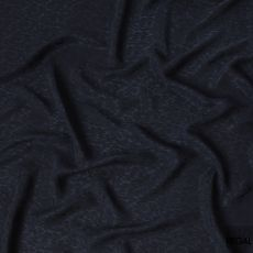 Dark Navy 100% biodegradable cupro fabric with same tone jacquard in self design-D6972