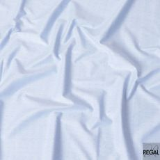 Powder blue blended cotton shirting fabric with baby blue jacquard in dot design-D6647