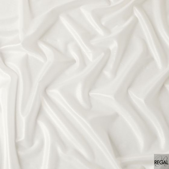 Off white silk chiffon fabric with gold foil finish